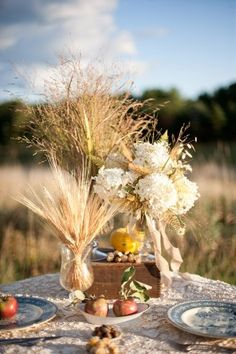 This site has some great ideas, beautiful country fall wedding!