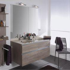 meuble de salle de bains absolu ii chne gris leroy merlin - Vasque Double Salle De Bain Leroy Merlin