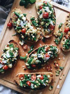 Grilled Summer Vegetable Bruschetta / Bev Cooks