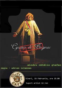 """Spectacolul """"Cyrano de Bergerac, poate…"""" @Retro Cafe Retro, Movies, Movie Posters, Film Poster, Films, Popcorn Posters, Film Books, Movie, Film Posters"""