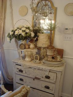 Shabby Chic Dream in Cream Words can't describe the details, the color, the shape, the size - it's all just right! Description from pinterest.com. I searched for this on bing.com/images