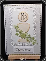 zaproszenie na komunię scrapbooking - Buscar con Google First Communion, Diy And Crafts, Decorative Plates, Google, Cards, Emboss, First Holy Communion, Playing Cards, Maps