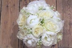 Peonies, roses and gypsophila