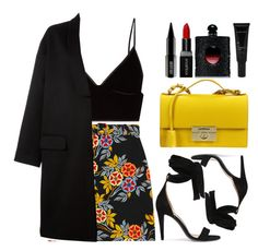 """Major lazer - Sua Cara"" by tamaramanhardt ❤ liked on Polyvore featuring MSGM, T By Alexander Wang, Givenchy, Salvatore Ferragamo, Off-White, Smashbox, Allies of Skin, Lord & Berry and Yves Saint Laurent"