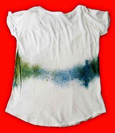 """Camiseta única color blanco pintada a mano """"SALPICÓN"""""""