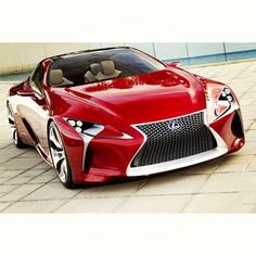 10 World Fastest Sport Cars - Red Lexus LF-LC Concept- no spills allowed in this car... Red Hot & ready to go. www.batsbirdsyard.com=Bat Houses