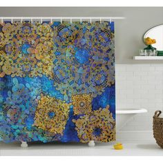 Country Decor, French Country Decor, Rustic Decor - What Is Your Style? Shower Curtain Sets, Fabric Shower Curtains, Motif Oriental, Persian Motifs, Boho Designs, Color Palate, Moroccan Decor, Artwork Design, Bathroom Sets