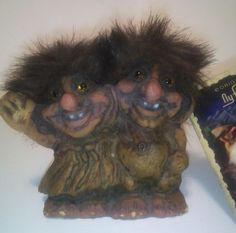 Vintage NyFor Trolls Twins #020, Collectibles, Ny Form Trolls by KitschArts on Etsy