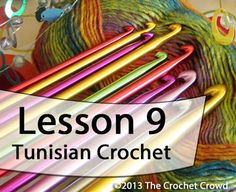Learn how to Tunisian Crochet with Mikey. Mikey's video series will take you through the basics showing you exactly what to do. Lesson 2.