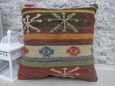 faded color embroidery design  kilim rug pillow 16 x 16 kilim cushion decorative sofa pillow bedding pillow boho pillow throw pillow