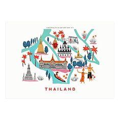 Thailand Map Print -Ayang Cempaka