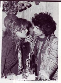 Keith Richards and bride, Patti Hansen