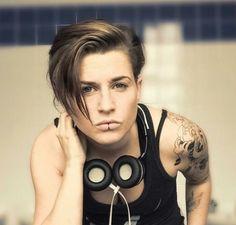Undercut androgynous hair style