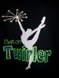 Baton twirler hoodie embroidered by artisticapplications on Etsy