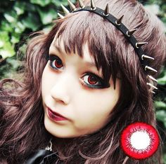 Image 1 Dark Brown Eyes, Gray Eyes, Dark Red, Marshall Lee Cosplay, Circle Lenses, Colored Contacts, Piece Of Cakes, Kimchi, Makeup