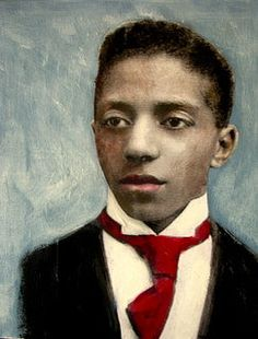 African American young man..nostalgic portrait maudstarr.sold