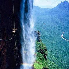 Zip lining in Venezuela