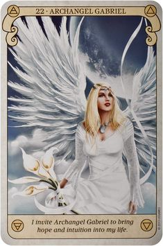 Messages Spirituels, Chakras, Archangel Prayers, Angel Guide, Archangel Gabriel, Angel Cards, Prayer Warrior, Moon Goddess, Oracle Cards