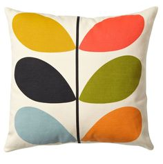 Orla Kiely Cushion | Multi Stem £36.95 - Living - Orla Kiely Cushions ILLUSTRATED LIVING