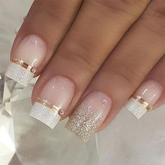 100 Beautiful wedding nail art ideas for your big day - wedding nails bride nails nail art romantic nails pink nails Wedding Nails For Bride, Bride Nails, Wedding Nails Design, Gold Nails, Pink Nails, Romantic Nails, Bridal Nail Art, Nail Swag, Toe Nail Designs
