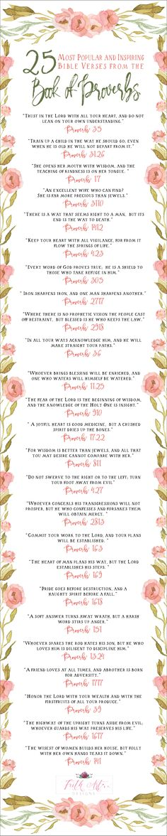 25 Popular and Inspiring #Bible Verses from the Book of #Proverbs