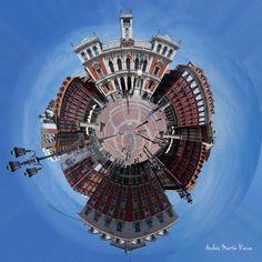 Wee Planet del Ayuntamiento de Valladolid, España. #Fotografía #ProyectoCreativo #Creatividad #Monumentos #Diseño #Planeta #Photoshop #Valladolid #Spain