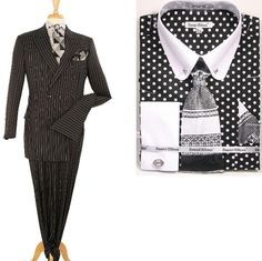 Style Spotlight: Pinstripe in double breasted. #mensfashion #mensstyle #menssuits
