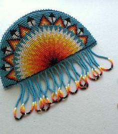 Native Beaded Heart Barrettes | Native American Bead Work - Handmade Beaded Barrette