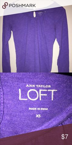 ANN TAYLOR LOFT Purple XS Long Sleeve T-shirt Ann Taylor Loft Purple  Long Sleeve T-Shirt Sz XS. Please ask any and all questions prior to purchase. Tops Tees - Long Sleeve