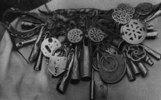 phot of a Nanai shaman's belt from the 1970's.    Photo of a Nanai shaman's belt from the 1970's