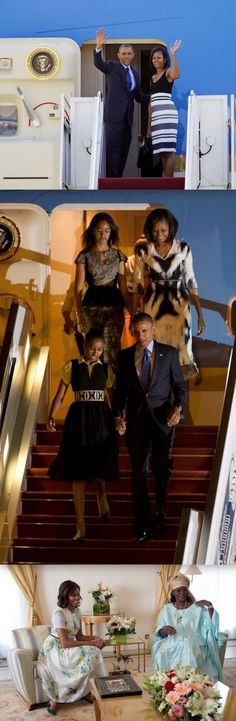 Fashion: Michelle Obama's State Visit To Senegal - http://www.becauseiamfabulous.com/2013/06/michelle-obamas-state-visit-to-senegal/