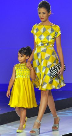 Hers and Little Hers - Brilliant! Bhuddhi Batiks.