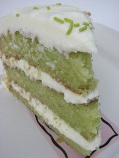 Trisha Yearwood's Key Lime Cake-- This is the recipe I used for Maddie's first communion that Ryan liked so much!  :)