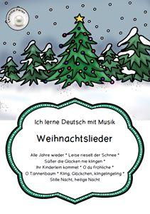 Mit Weihnachtsliedern Deutsch lernen