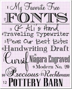 More fonts!