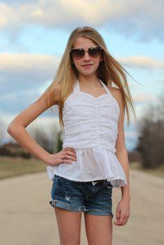 Ruchie Shirt Girls Top Pattern Easy Peplum by littlelizardking