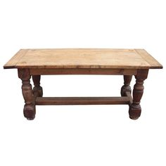 19th cent. continental oak table / kitchen island