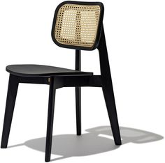 Cane Chair: Cane Back Dining Chairs In Black, Blue, Green, and Natural