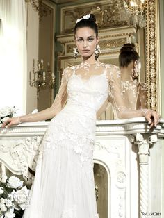 Peru Illusion Long Sleeve Wedding Gown By Yolan Cris - 2014 Collection - (weddingspirasi)