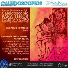 La Misa Criolla de Ariel Ramirez será la base de nuestro segundo concierto de la temporada Caleidoscopios, ¿Te lo vas a perder?. Caleidoscopio para Tenor y Coro.