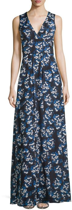ShopStyle Collective,  Nieman Marcas, ZAC Zac Posen Sleeveless Floral Maxi Dress