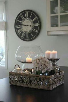 Love this as a centerpiece idea, living room decor, candles, DIY decor, home decor