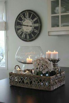 Love this as a centerpiece idea, living room decor, candles, DIY decor, home decor