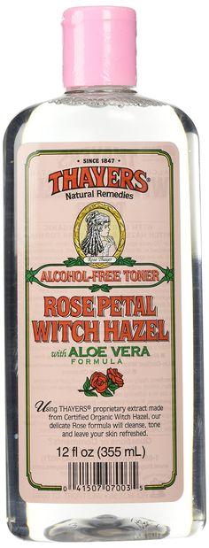 Amazon.com: Thayers Alcohol-free Rose Petal Witch Hazel with Aloe Vera ~ 12 oz: Health & Personal Care