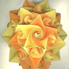 doll-origami balls kusudama. | make handmade, crochet, craft  http://make-handmade.com/2011/04/06/quilling-paper-making-flowers/