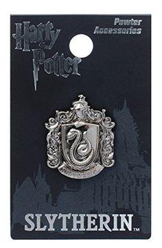 Harry Potter Slytherin School Crest Pewter Lapel Pin Harr... https    a3450c639b94a