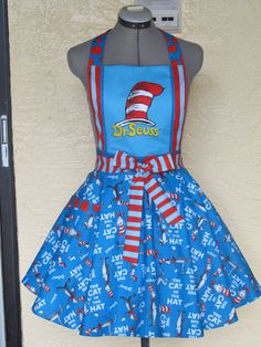 The Cat in the Hat Apron  Dr. Seuss  Full of by AquamarCouture, $49.99