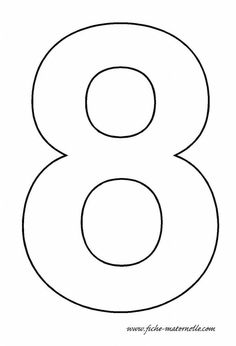 Number 4 pattern. Use the printable outline for crafts ...