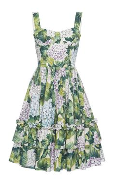 Floral-Print Cotton Dress by DOLCE & GABBANA Now Available on Moda Operandi