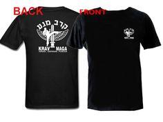 Krav Maga emblem front and back print customized silk printed black t-shirt S-2XL by mycooltshirt on Etsy